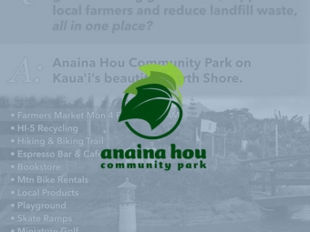 Anaina Hou Community Park Print Advertising
