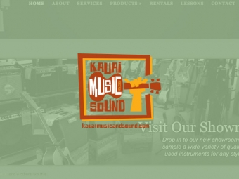 Kauai Music and Sound Website