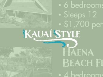 Kauai Style Vacation Rentals Rack Card