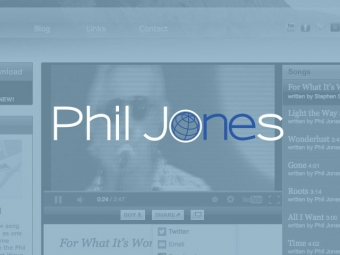 Phil Jones Band Website