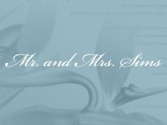 Squire Sims Wedding Invitation