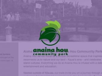 Anaina Hou Community Park Website