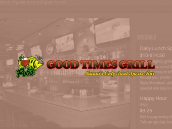 Rob's Good Times Grill Website