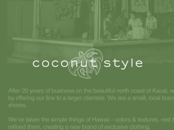 Coconut Style Sales Sheet