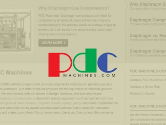 PDC Machines Website