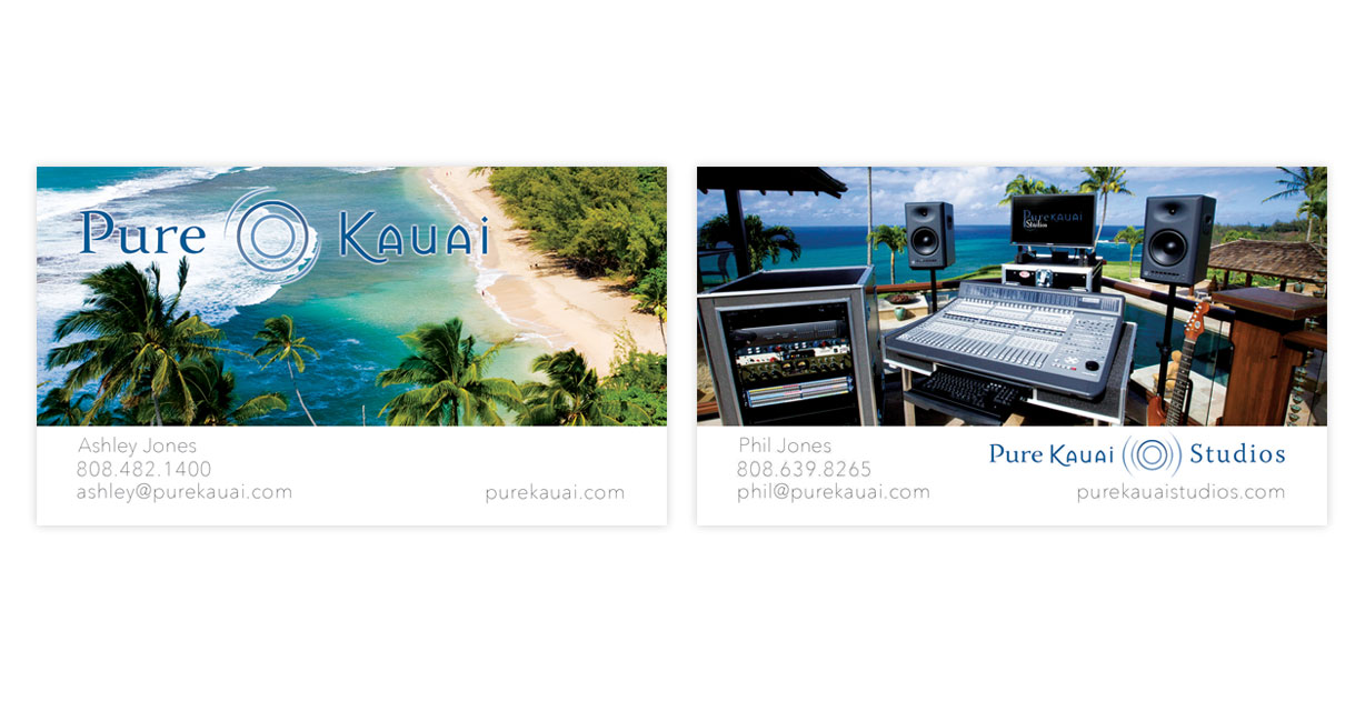 Pure kauai business cards skyfarm 808 reheart Image collections