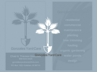 Gonzales Yard Care Business Cards