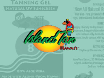 Island Tan Product Labels