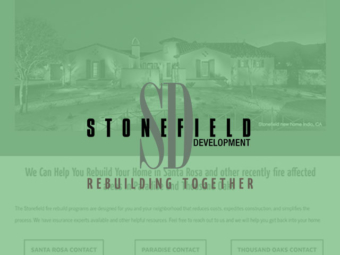 Stonefield Development Website